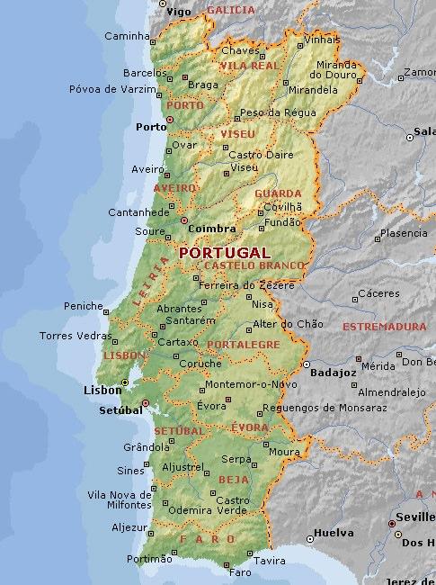 Compass Travel Club Хорватия Информация о стране - Portugal map resorts